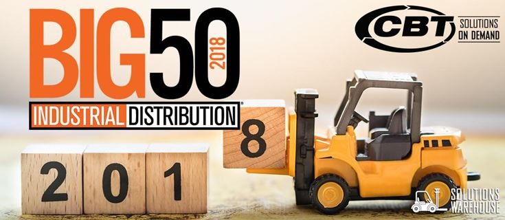 Picture for category CBT Makes Industrial Distribution's Big 50 List Three Years in a Row